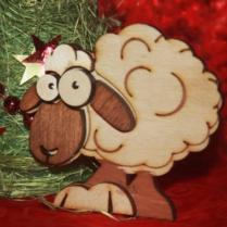 Изделия из дерева, новогодние подарки, магнитик на холодильник