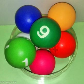 Шарики для лототрона d4k в широкой палитре цветов, с номерами