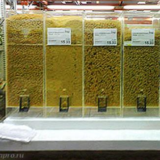 Диспенсер для макарон, круп и других сыпучих продуктов, объем 15 литров