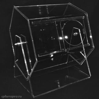 Лототрон с многогранным барабаном в виде шестиугольной призмы объемом 10 литров