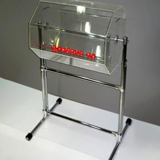 Напольный лототрон с барабаном в виде многогранника объемом 110 литров