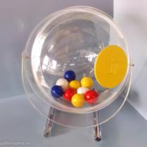 Симпатичный мини-лототрон со сферическим барабаном объемом 26 литров