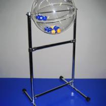 Напольный лототрон с барабаном в виде сферы объемом 40 литров