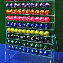 Подставка из оргстекла для шаров диаметром 4 см, прозрачная, открытая, лесенкой