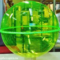 Сфера из оргстекла, образец диаметром 42 см из флуоресцентного оргстекла