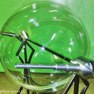 Сфера из оргстекла, образец диаметром 80 см из прозрачного оргстекла в большом лототроне