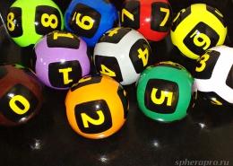 Окрашенные шары Люкс с защитным покрытием, диаметр 6 см