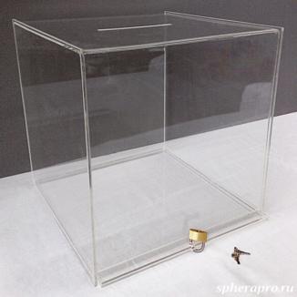 Прозрачный ящик для голосования, урна для пожертвований и других акций